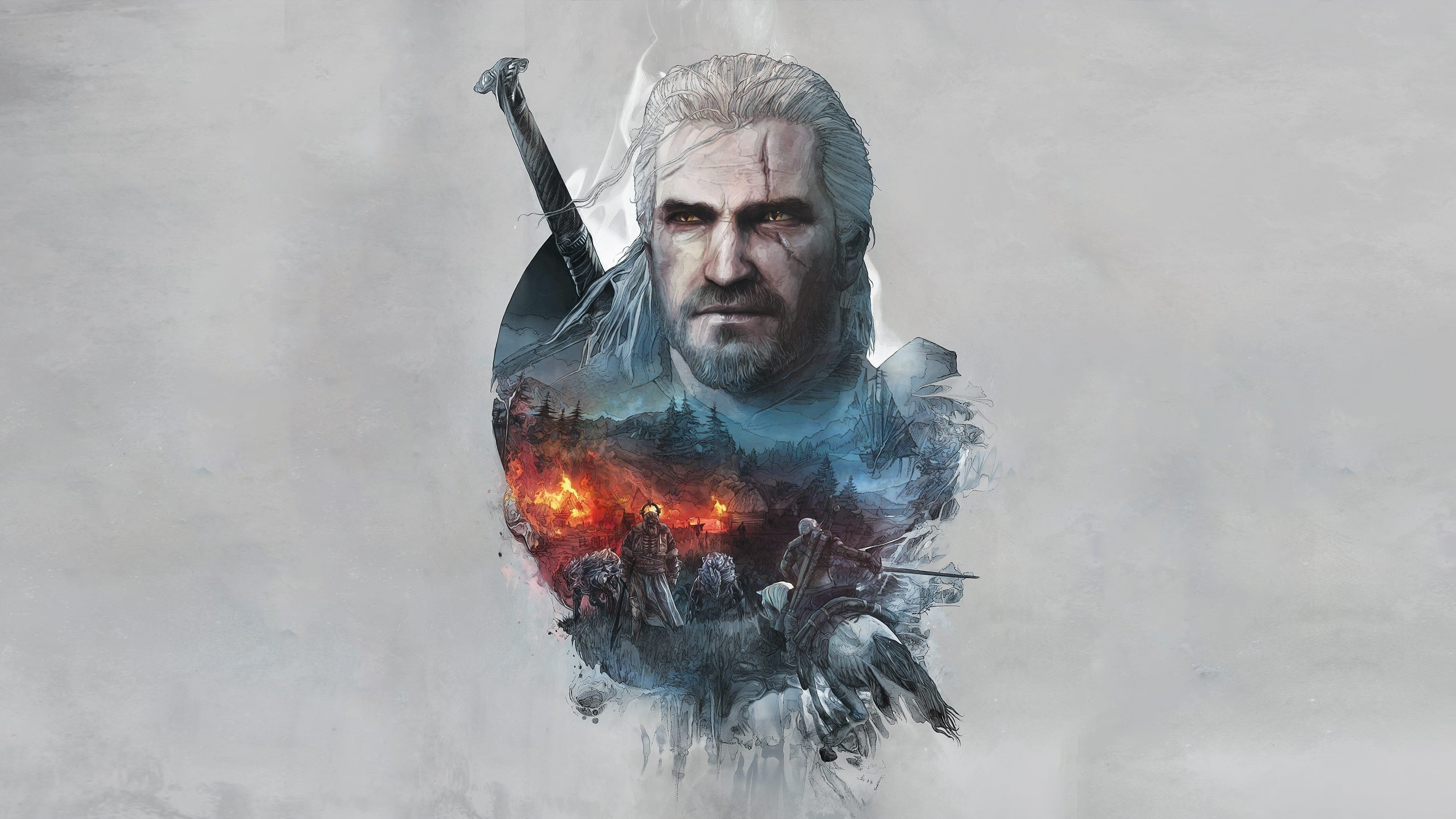 The Witcher 3 Geralt of Rivia Artwork