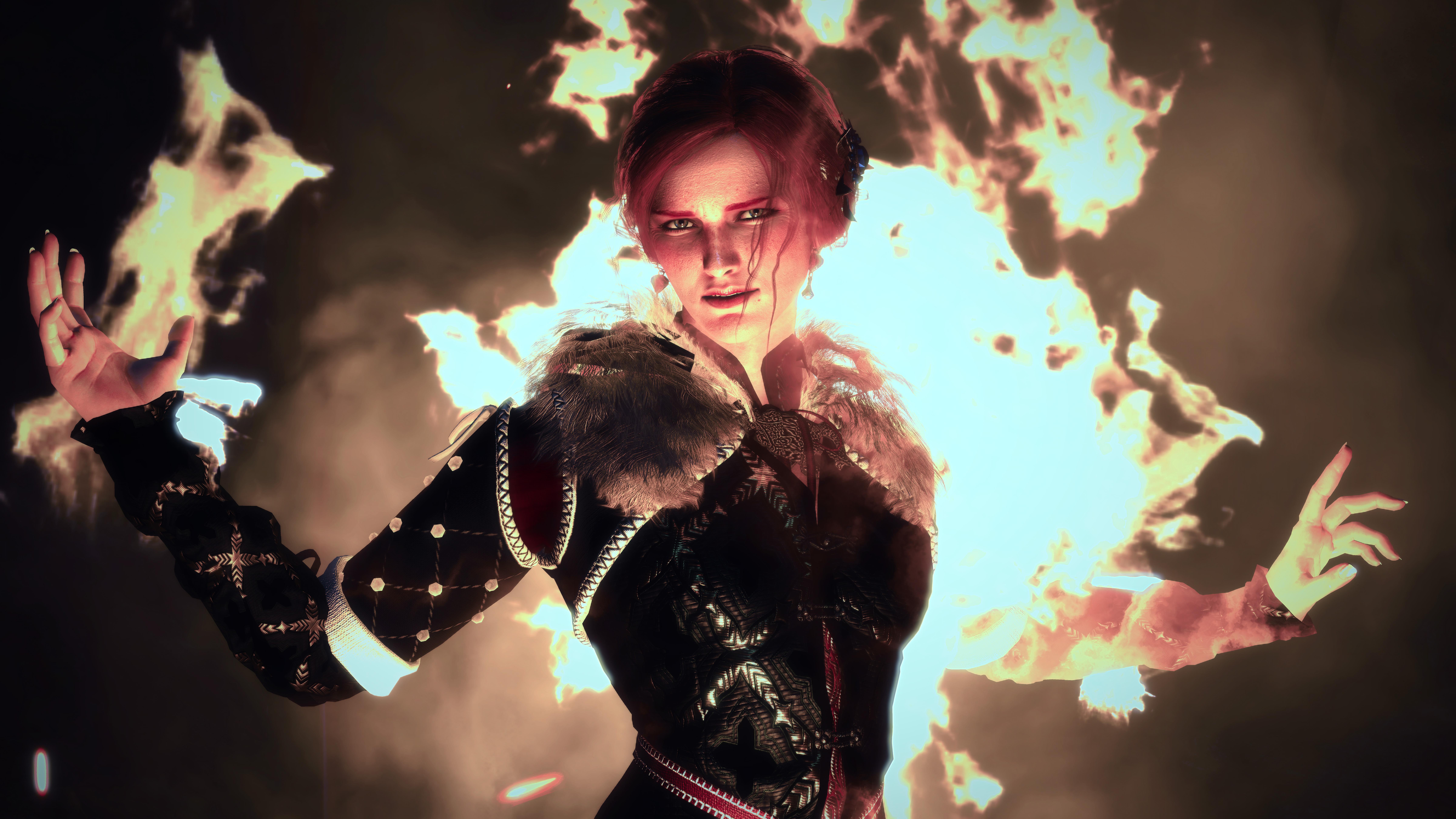 Xbox One X 4k Magic: 2560x1080 The Witcher 3 Magic Woman 10k 2560x1080