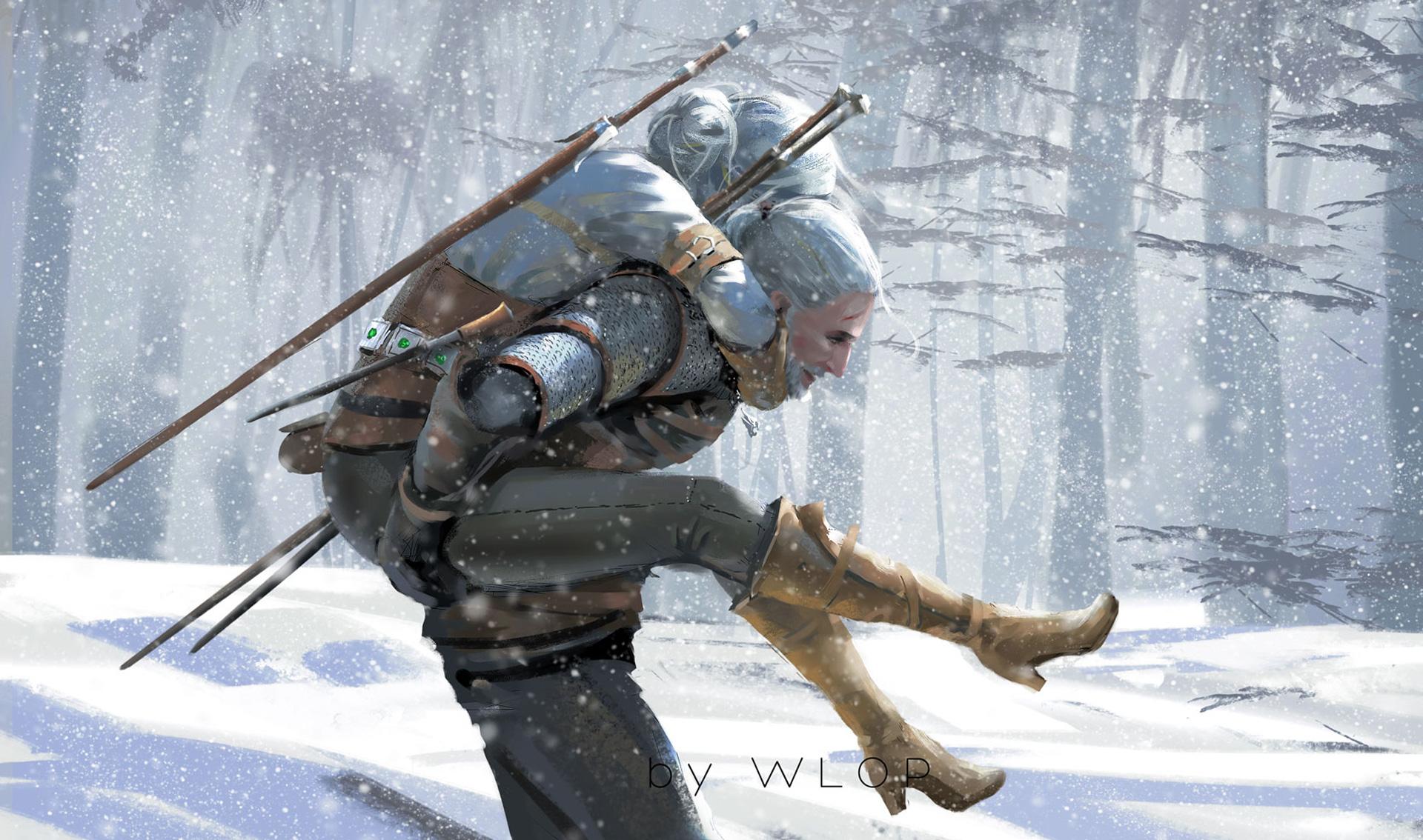 The witcher 3 wild hunt artwork by wlop hd artist 4k - The witcher wallpaper 4k ...