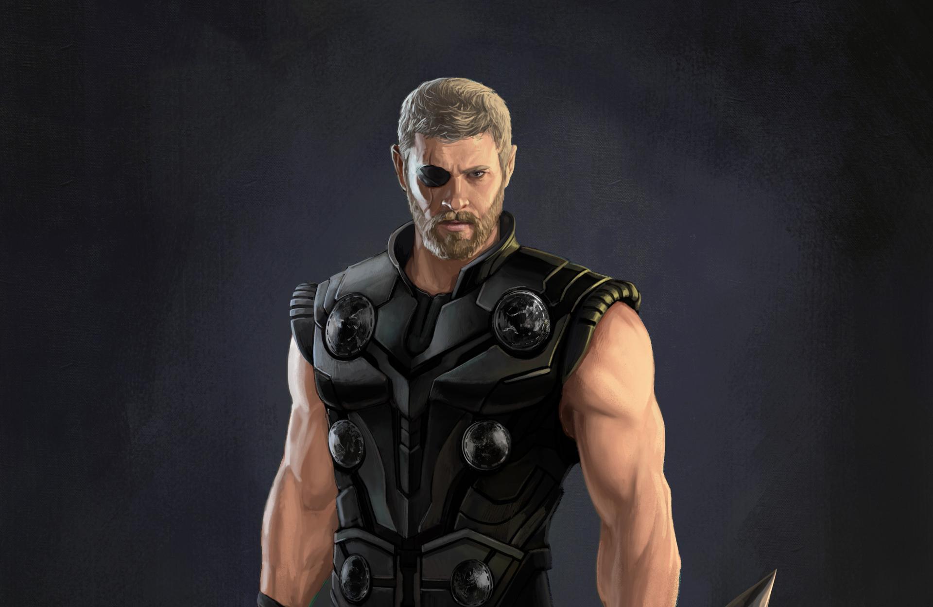 1600x1200 Thor Avengers Infinity War Artwork 1600x1200 Resolution Hd