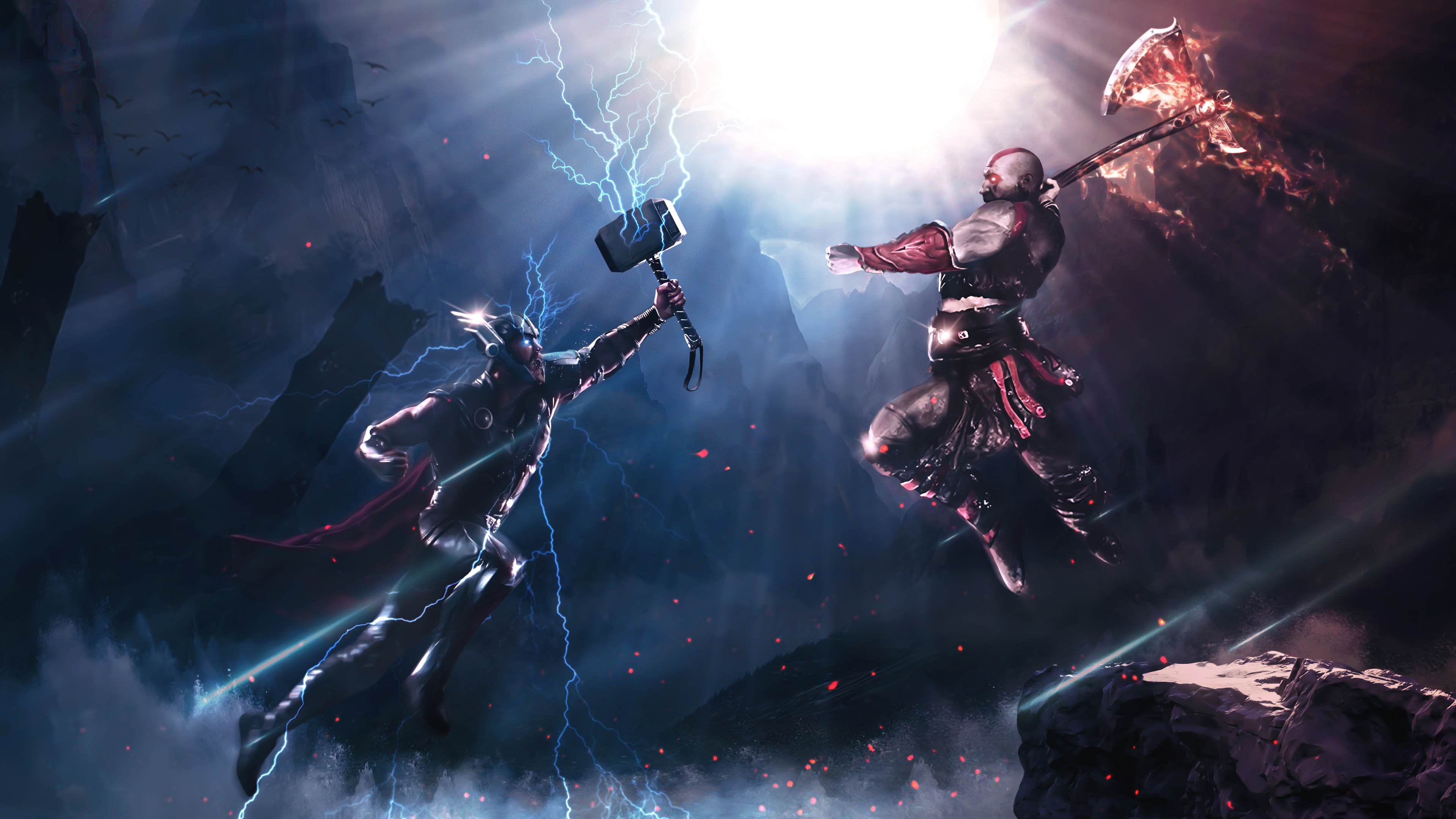 1600x900 Thor Vs Kratos 4k 1600x900 Resolution HD 4k