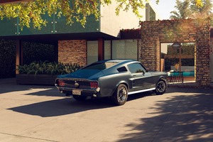 1967 Ford Mustang CGI Wallpaper