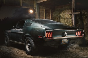 1968 Mustang GT Fastback 8k Rear Wallpaper