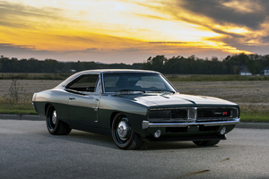 1969 Ringbrothers Dodge Charger Defector Front View Wallpaper