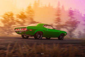 1970 Dodge Challenger RT From The Crew 2 Art