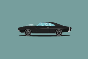 1970 Dodge Charger Fast And Furious Edition Illustration Wallpaper