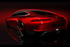 2017 Geneva Mercedes Benz AMG GT Concept Wallpaper