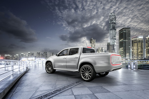 2017 Mercedes Benz X Class Pickup Truck 8k Wallpaper