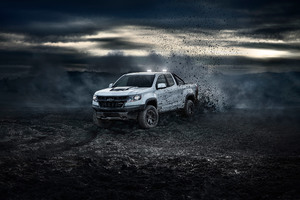 2018 Chevrolet Colorado ZR2 Crew Cab 4k Wallpaper