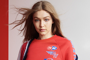 2018 Gigi Hadid Tommy Hilfiger Photoshoot Wallpaper