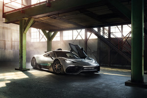 2018 Mercedes AMG Project One Photoshop Wallpaper