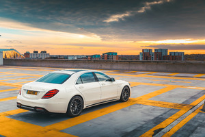 2018 Mercedes AMG S63 Back View Wallpaper