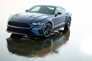 2019 Ford Mustang Bullitt Kona Blue Wallpaper
