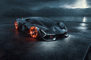 2019 Lamborghini Terzo Millennio Digital Art Wallpaper