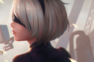 2B Nier Automata Artwork