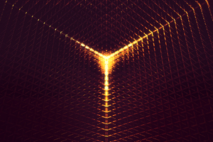 3D Abstract Digital Art Orange Light 4k Wallpaper