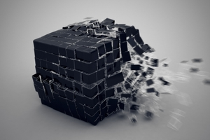3d Cube Burst Wallpaper