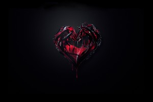 3d Heart Abstract Shape Wallpaper