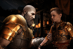 4k God Of War 4 Kratos And Atreus Wallpaper