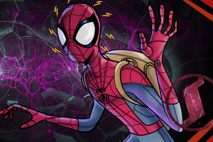 5k Spiderman Digital Art Wallpaper