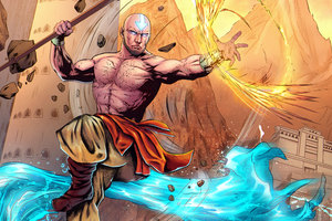 Aang Avatar Artwork 5k Wallpaper