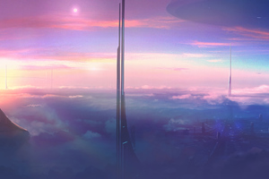 Above The Clouds Skyscraper Wallpaper