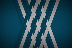 Abstract Blue Cyan Lines Wallpaper
