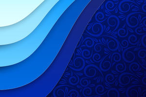 Abstract Blue Texture 5k Wallpaper