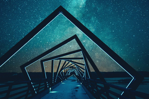 Abstract Bridge Wallpaper
