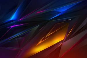 Abstract Dark Colorful Digital Art