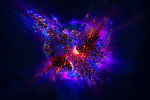 Abstract Explosion Wallpaper