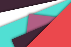 Abstract Minimalist Colors Shapes Wallpaper