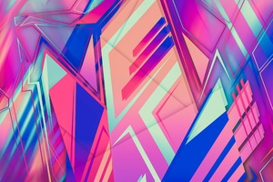Abstract New Colors Shapes Wallpaper