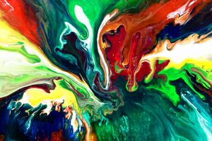Abstract Paint Swirl Wallpaper