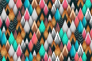 Abstract Sharp Shapes 5k Wallpaper