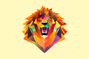 Abstract Tiger Facet Wallpaper