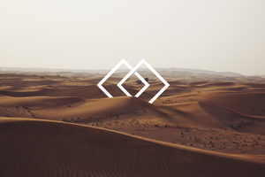 Abstract Vs Nature Desert Wallpaper
