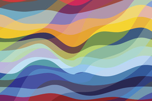 Abstract Waves Colorful 4k Wallpaper