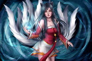 Ahri League Of Legends Artwork