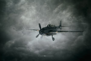 Aircraft Dark Clouds Wallpaper