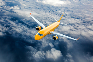 Airplane Fly Through Clouds 8k