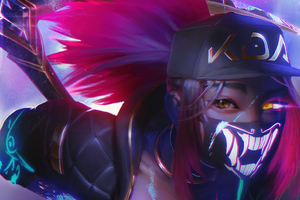 Akali League Of Legends Fan Art Wallpaper