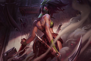Akali The Rogue Assassin Wallpaper