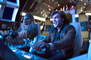 Alden Ehrenreich And Chewbacca In Solo A Star Wars Story Wallpaper