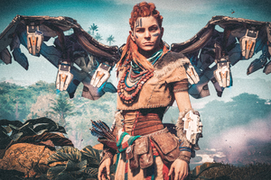 Aloy Horizon Zero Dawn Bird 4k Wallpaper