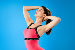 Amanda Cerny Guess X Activewear Wallpaper