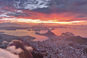 Amazing View Of Rio De Janeiro During Sunset Wallpaper