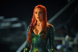 Amber Heard As Mera In Aquaman Wallpaper