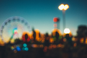 Amusement Park Blur 5k Wallpaper