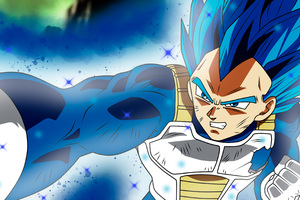 Anime Dragon Ball Super Vegeta SSJ Blue Full Power